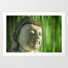 Buddha - bamboo Art Print