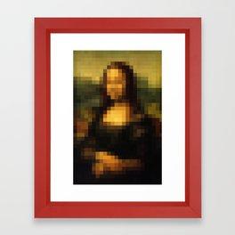 Mona Lisa Pixelated Framed Art Print