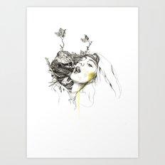 Bird Feeding Art Print