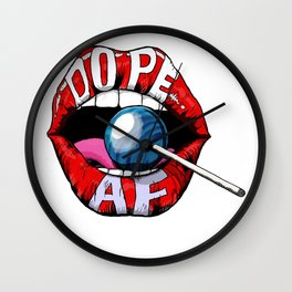 Dope Lips Wall Clock