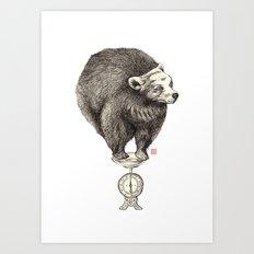 Bear your weight Art Print