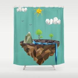 Floating Island Shower Curtain