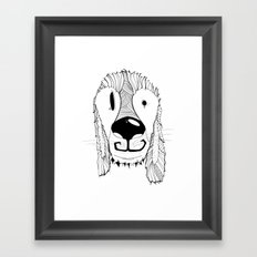 Dog sketch Framed Art Print