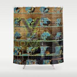 Glitch Cabinet Shower Curtain