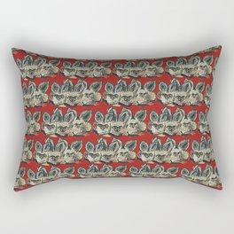 Bat Eared Fox (Scarlet) Rectangular Pillow
