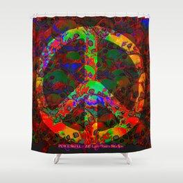 PEACE SKULLS Shower Curtain