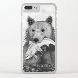 Grizzly Bear Clear iPhone Case