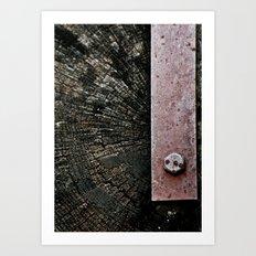 Wooden Energy Art Print
