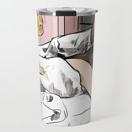 Holly Golightly the cat with no name - Audrey Hepburn in Breakfast at Tiffany's Travel Mug