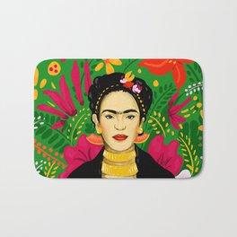 Frida Flower Kalho Art Print by Cindy Rose Studio Bath Mat