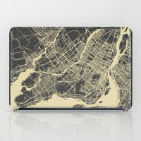 montreal iPad Cases featuring Montreal Map by Map Map Maps