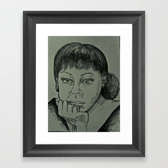Adele Sketch Framed Art Print