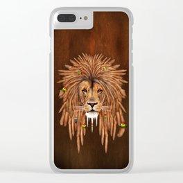 Dreadlock Lion Clear iPhone Case