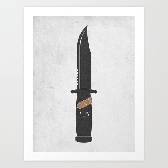 I Cut Myself Art Print