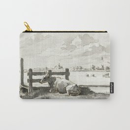 Whey with lying cow by Jean Bernard Carry-All Pouch
