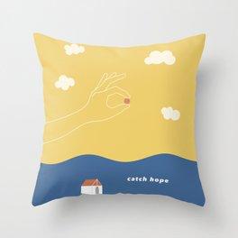 catch hope Throw Pillow