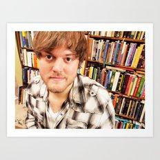 Brock Wilbur September Library Art Print