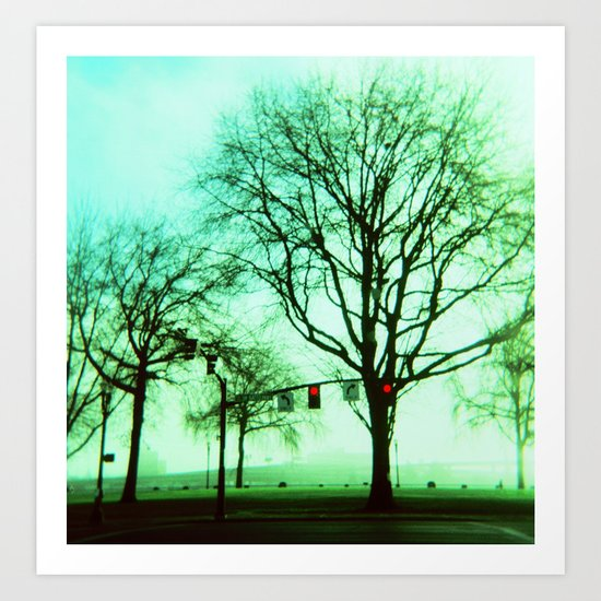 Green Fog Art Print