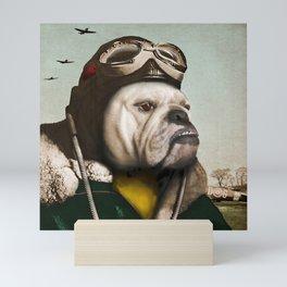 "Wing Commander, Benton ""Bulldog"" Bailey of the RAF Mini Art Print"