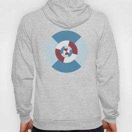 Simple geometric discs pattern blue and azure Hoody