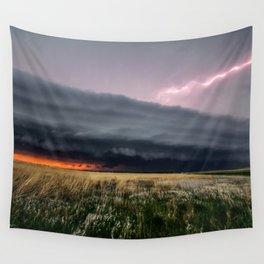 Steamroller - Storm Spans the Kansas Horizon Wall Tapestry