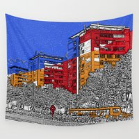 urban Wall Tapestries featuring URBAN by Michelito
