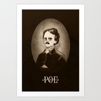 poe Art Prints featuring Poe by Karl Kwasny