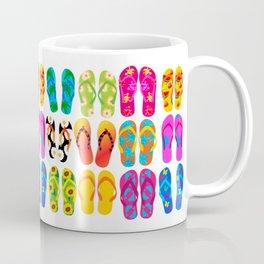 Sandals Colorful Fun Beach Theme Summer Coffee Mug