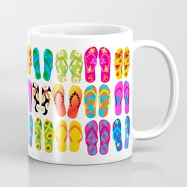 Sandals Colorful Fun Beach Theme Summer Coffee Mug