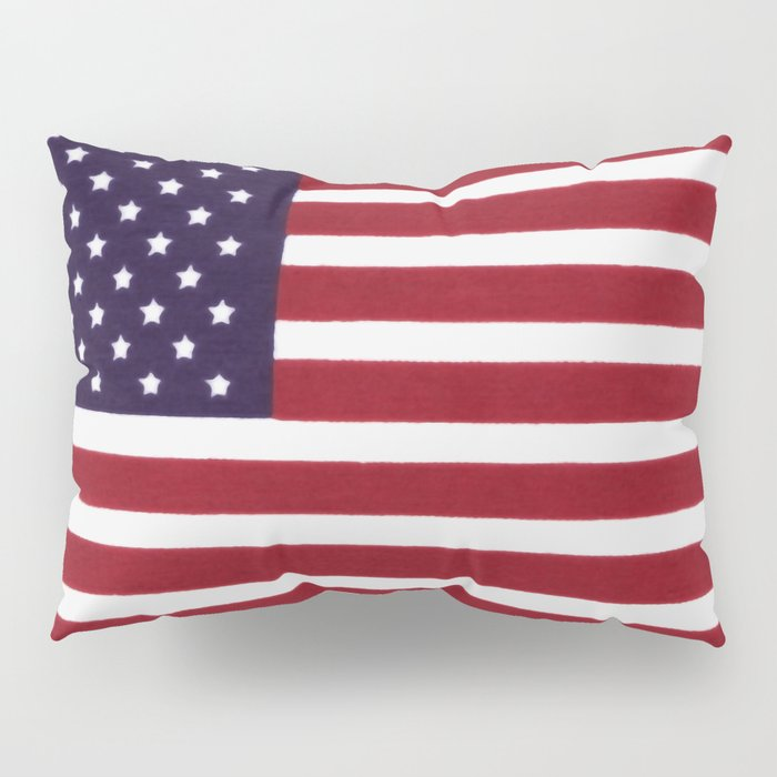 American flag with painterly treatment Pillow Sham