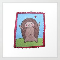 Cute Hedgehog Art Print