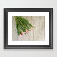 Spring Tulips Framed Art Print
