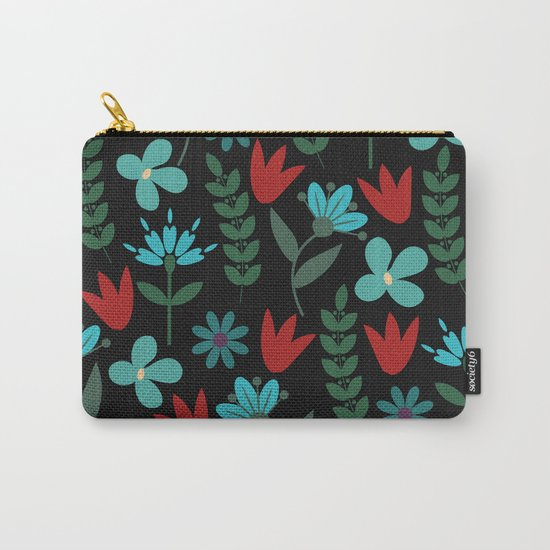 Flower Pattern XV Carry-All Pouch