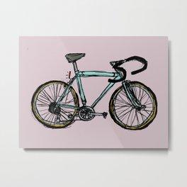 The Blue Bicycle Metal Print