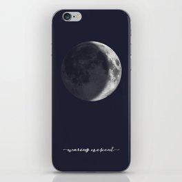 Waxing Crescent Moon on Navy - English iPhone Skin
