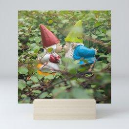 First Kiss - Garden Gnome Mini Art Print