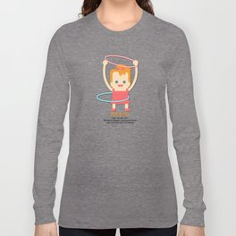 Hoopla Hula Hoop Ginger Long Sleeve T-shirt