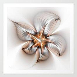 Elegance of a Flower, modern Fractal Art Art Print