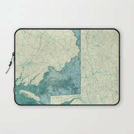 Maryland State Map Blue Vintage Laptop Sleeve