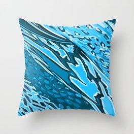 Water Skinning Throw Pillow