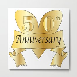 50th Anniversary Heart Metal Print