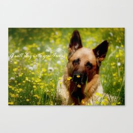 I will stay with you 4ever Canvas Print