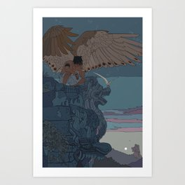 Perched Angels Art Print