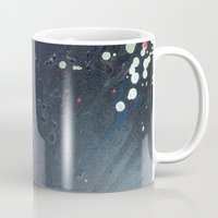 depression Mugs featuring Depression Rains by Shy Neon