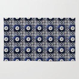 blue tile pattern VIII - Azulejos, Portuguese tiles Rug