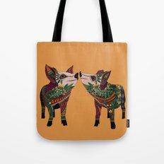 pig love amber Tote Bag