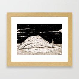 Beached Creature Framed Art Print