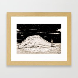 Beached Creature Framed Art Print