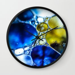 Yellow spotted blue Wall Clock
