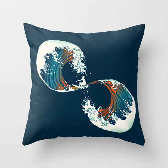 The Wave is forever Throw Pillow